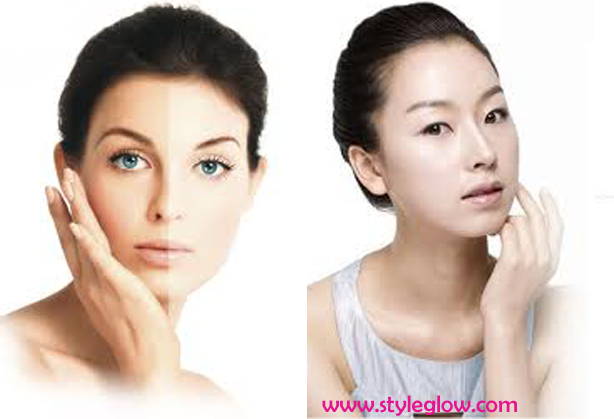 Natural shiny glowy face whitening home remedies