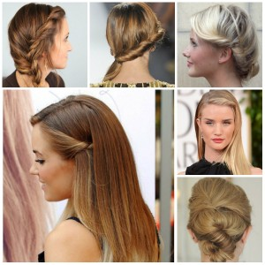 twisted party hairstyle ideas 2017 for girls