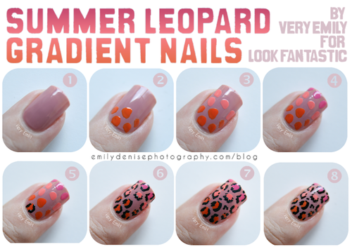 how to do leopard nail art