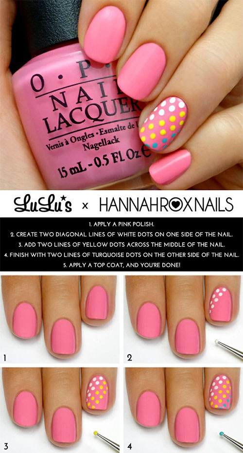 how to do polka dot nail art