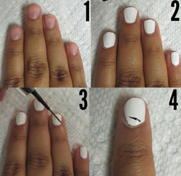 Zebra Print Nails Step By Step Tutorial