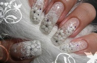 flower Wedding nail ideas 2017