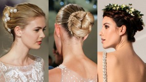 bridal hairstyles from runways 2017