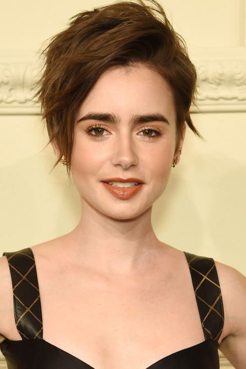 lily collins pixie 2018