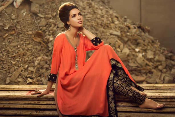 Latest Tops For Girls In Fashion 2014 Pakistani Summe...