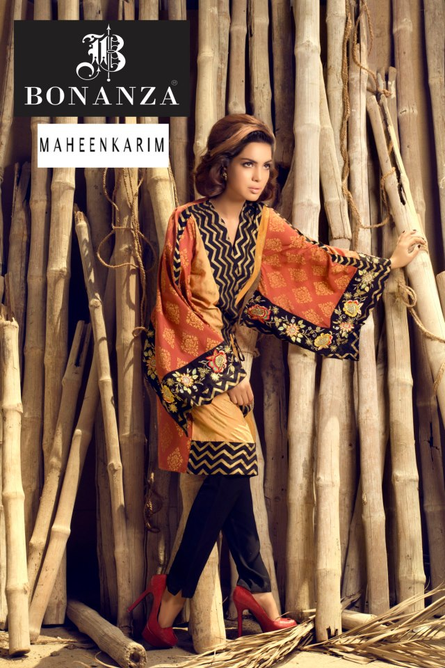 Pakistani Summer 2017 Tops and Tights Collection For Girls By Bonanza