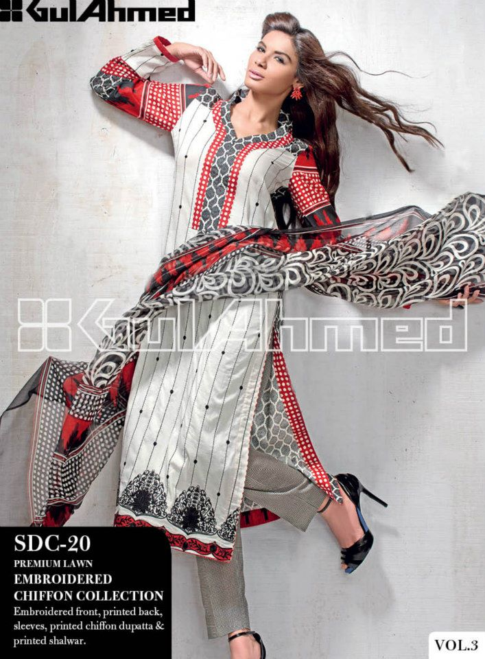 Latest Summer 2017 Pakistani Fashion Clothes For Ladies By Gul Ahmed