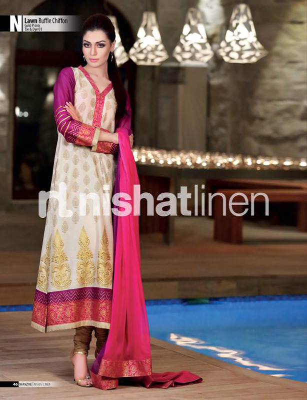 Beautiful And Elegant Eid Collection 2017 For Women By Nishat Linen