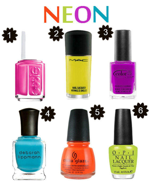neon nail paint trends 2017