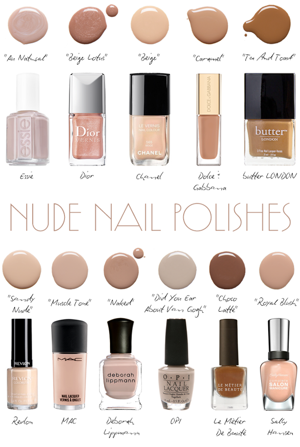 nude nail color trends 2017
