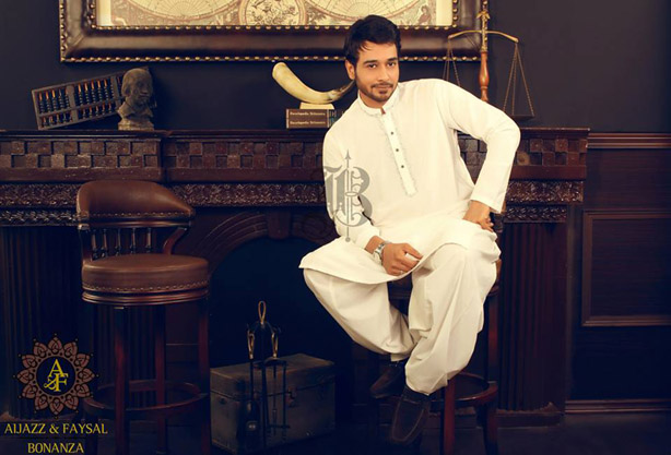 Latest Bonanza Kurta Shalwar Eid Collection 2013 for Men