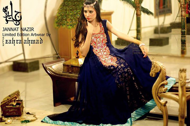 Latest Stylish Pakistani Party Wear & Wedding Frocks 2013 for Girls