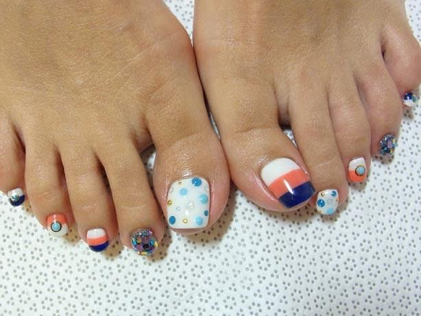 most popular toe nail designs 2017