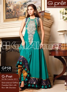 Latest Modern Silk Party & Wedding Dresses for Girls 2019 by Gul Ahmed