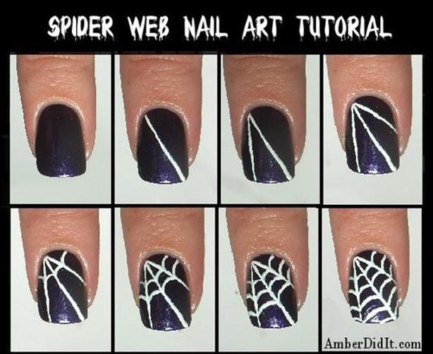 4 Best Easy & Charming DIY Halloween Nail Art Design Tutorials