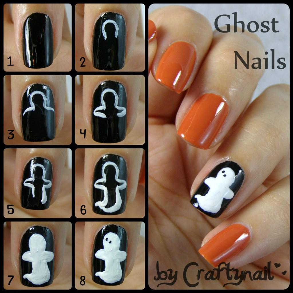 halloween ghost nail tutorial