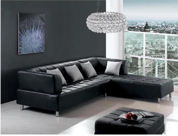Top stylish sofa designs for dream home sofa design pictures - Black sofas living room design ...
