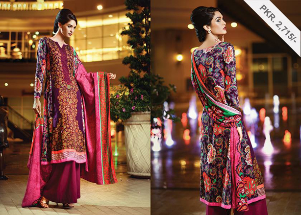 New Fashion Pakistani Winter Fall Collection for Women by Alkaram