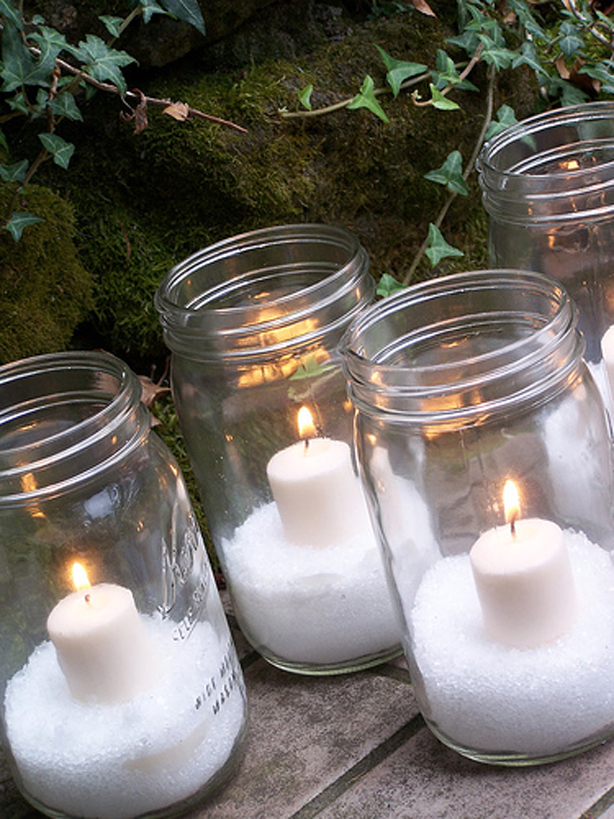 Easy Christmas Candle Decorating Ideas