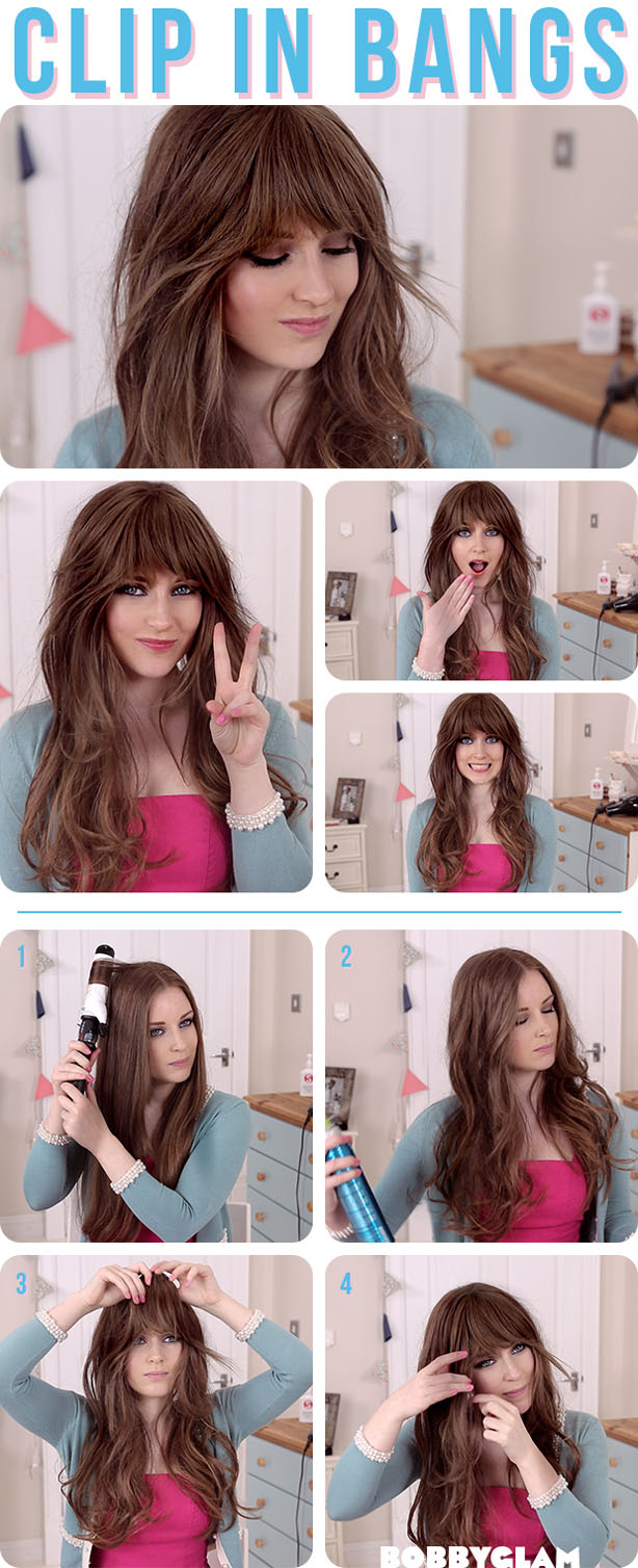 Thick Bangs Winter Hairstyle Tutorial