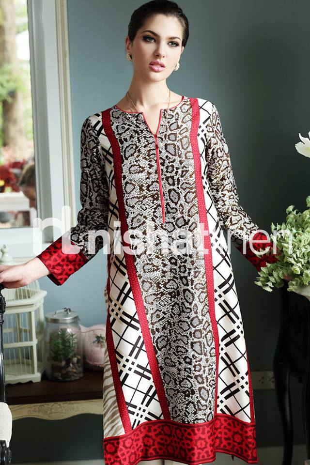 Most Excellent Winter Dresses for Pakistani Girls 2017 by Nishat