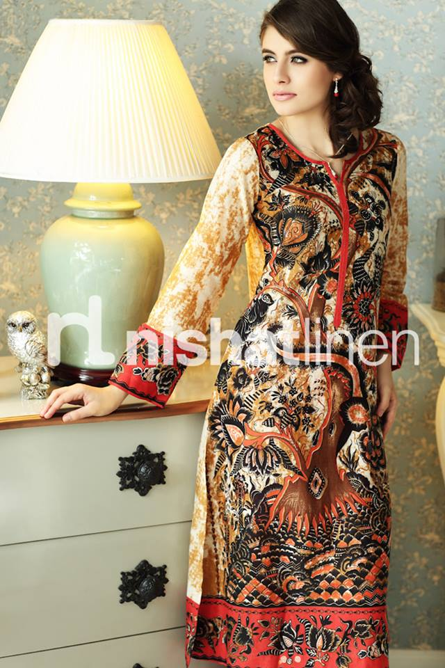 Most Excellent Winter Dresses for Pakistani Girls 2013-2014 by Nishat