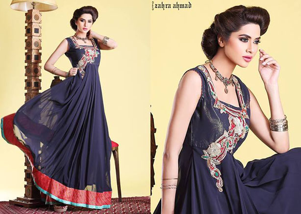 Long Fabulous Frock Designs for Women by Zahra Ahmad