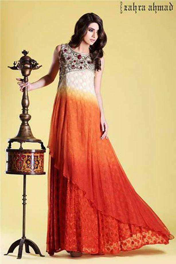 Long Fabulous Frock Designs for Women by Zahra Ahmad
