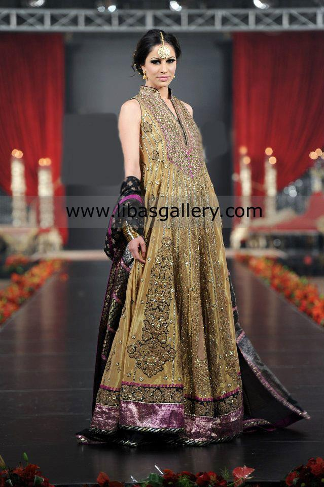 Latest Pakistani luxury Frock designs 2017