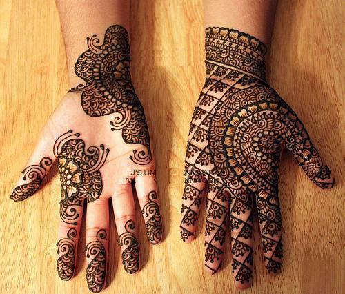 Latest Arabic Eid Mehndi Designs 2107 for Women