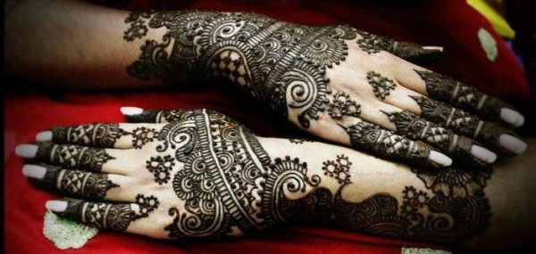 Latest Arabic Eid Mehndi Designs 2014 for Women