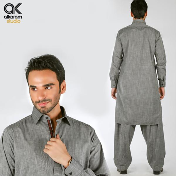 Alkaram blue shalwar suits 2017 (2)