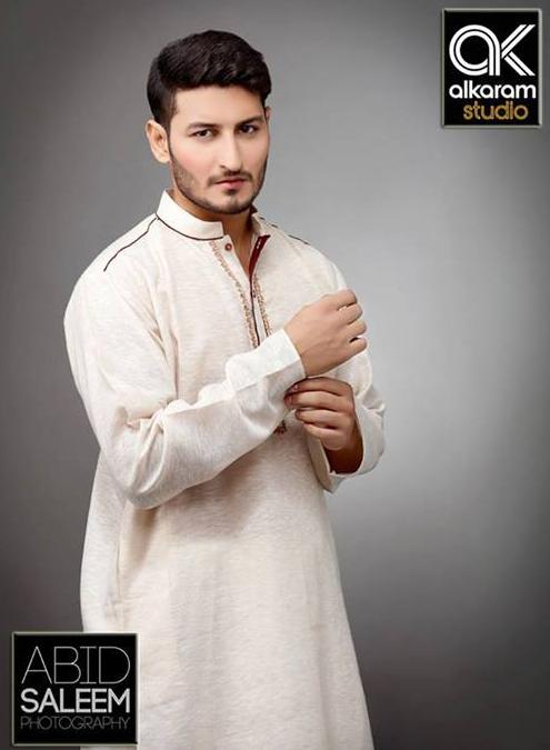 Alkaram off white shalwar suits 2017
