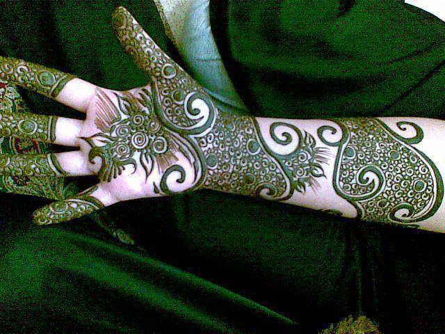 wedding mehndi styles for full hand