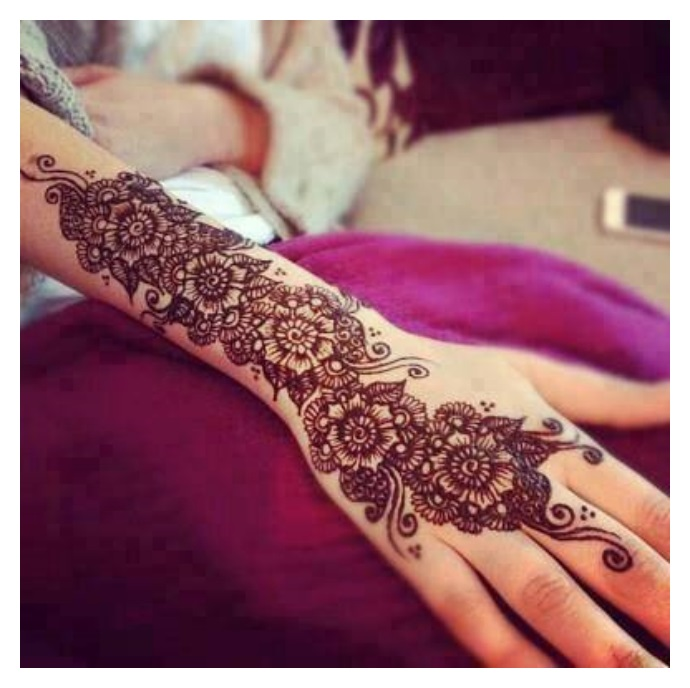 Full hand Eid mehndi design 2017-2017
