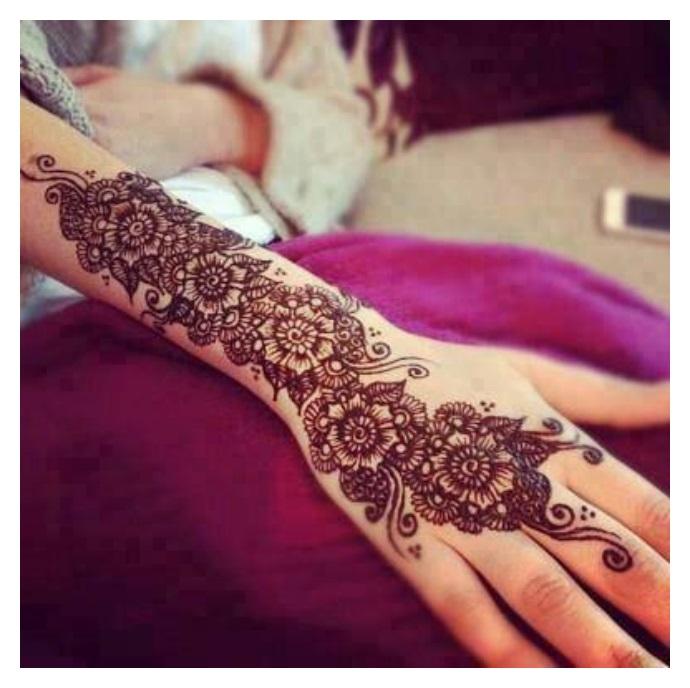 Full hand Eid mehndi design 2017-2017