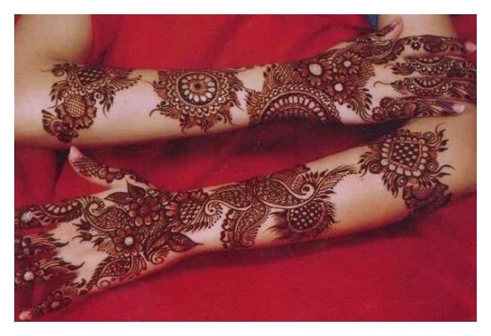 New full hand mehndi design