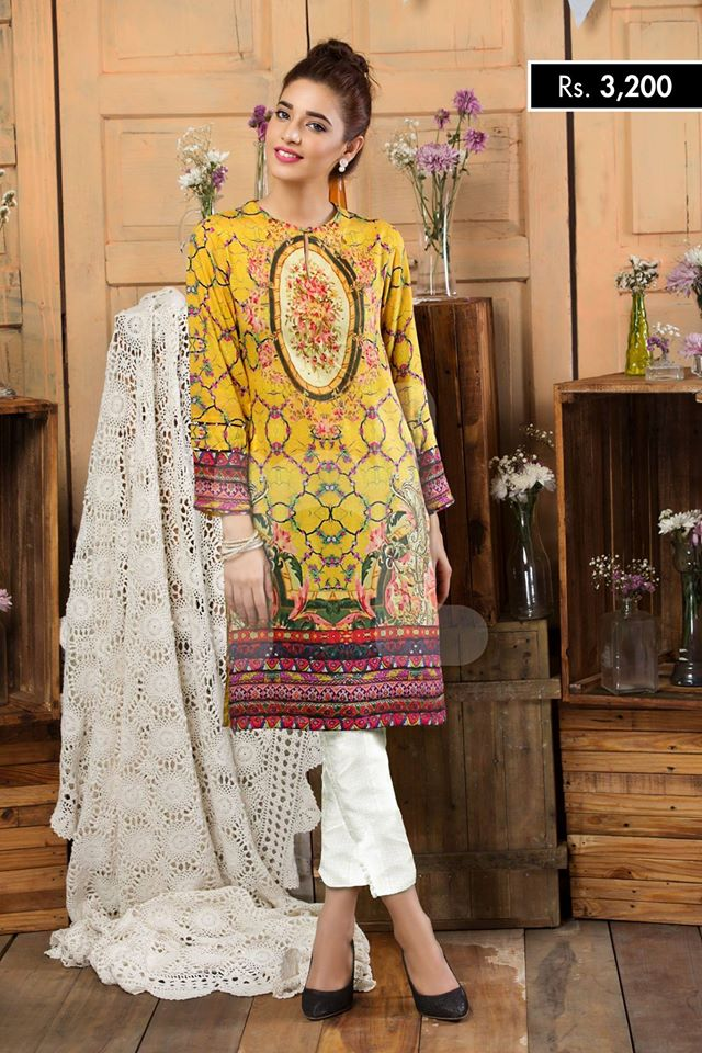 digital printed eid kurta for girls