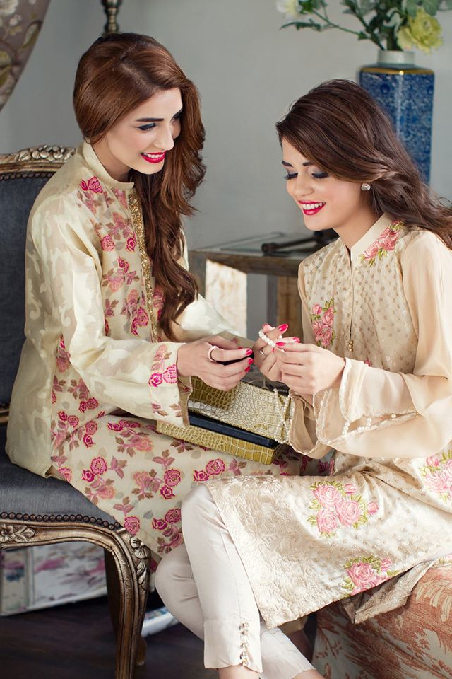 embroidered eid kurtas for women