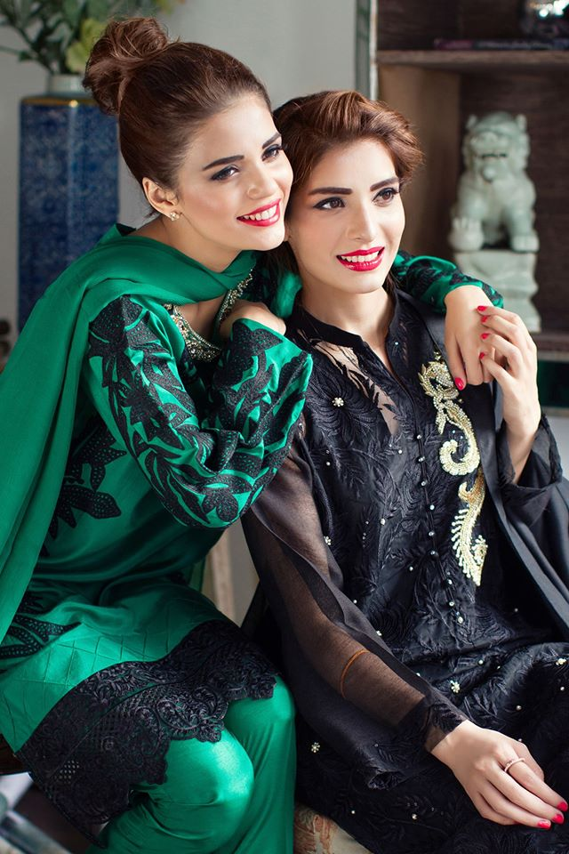 formal black dress for girls for eid