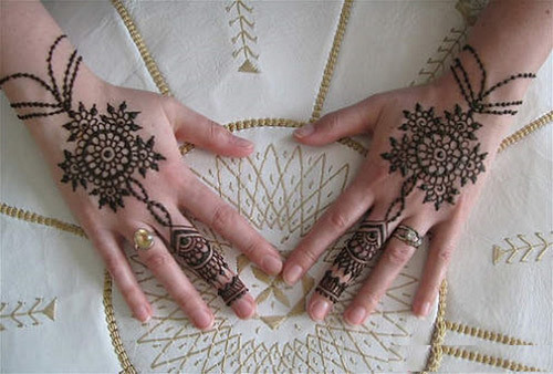 indian pakistani mehndi design for hand