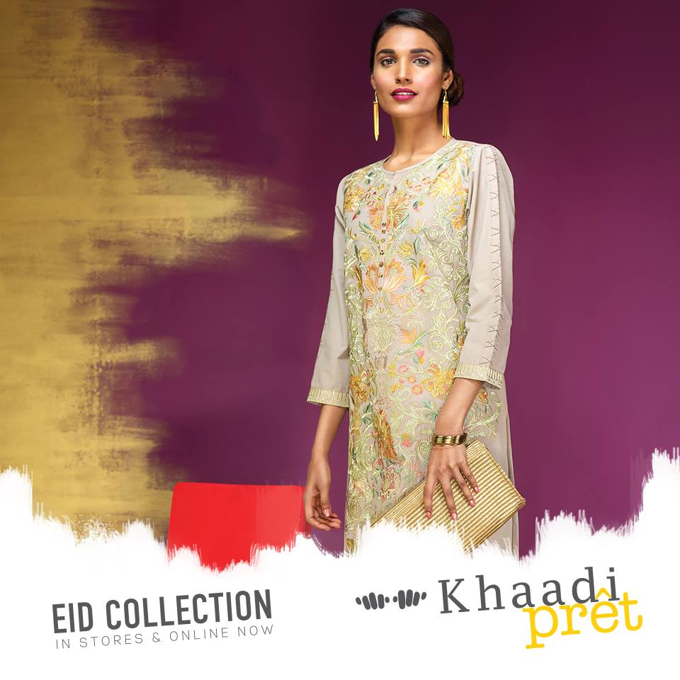 khaadi fancy kurta for women