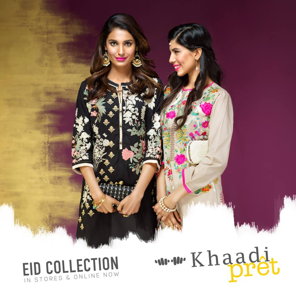 khaadi off white kurtas for girls 2016