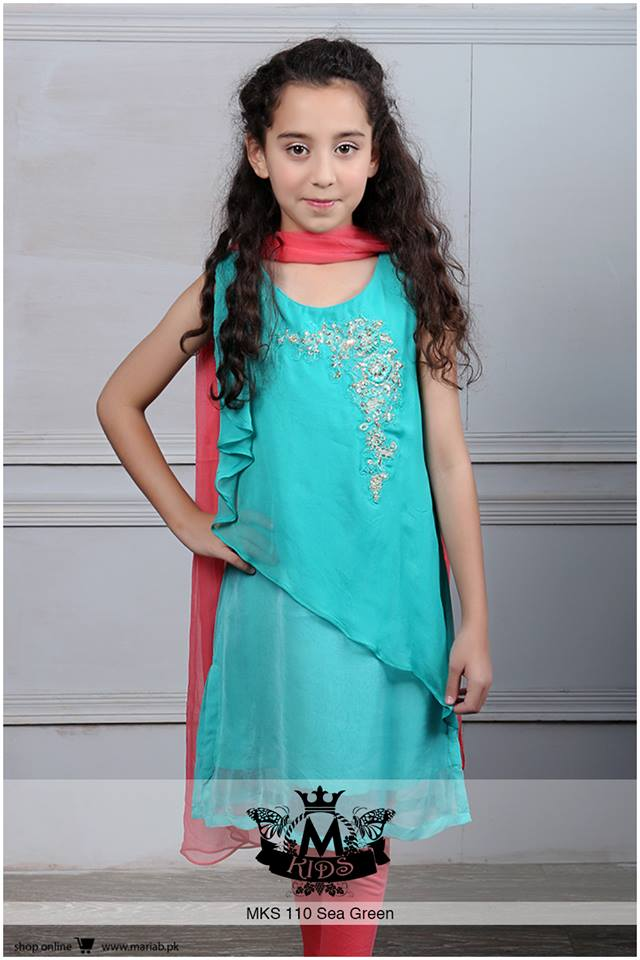 Latest Pakistani Eid Dress Collections 2017 for kids ...