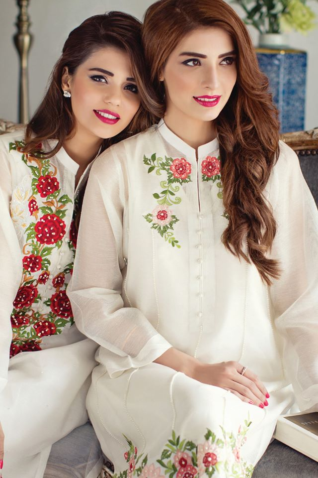 semi formal white kurta for girls