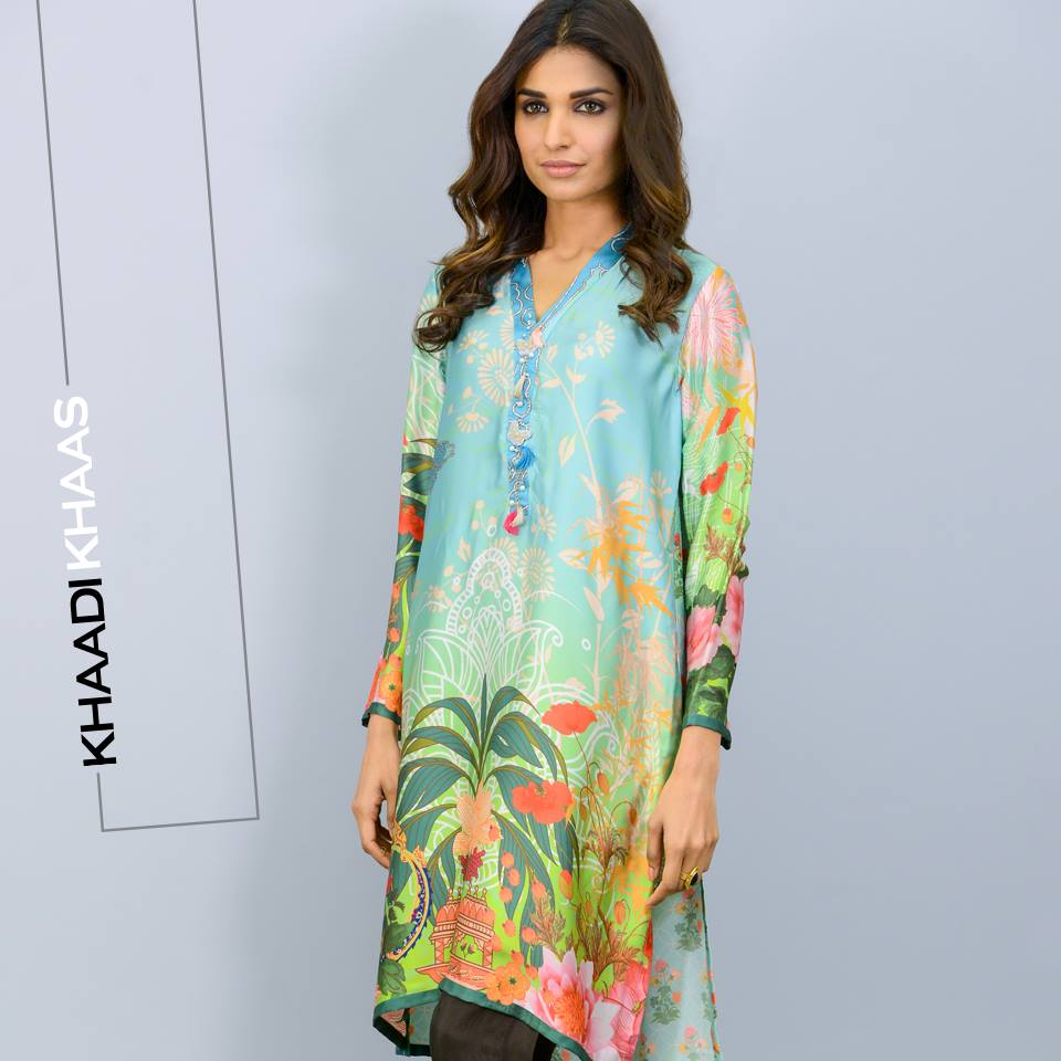 silk tunics for eid by khaadi
