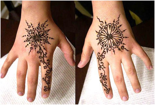 simple henna pattern for beginners