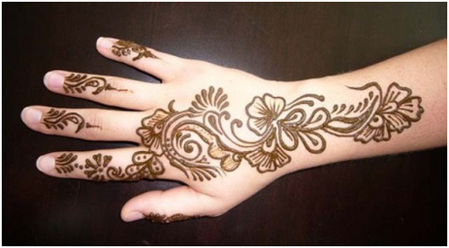 simple mehndi design to do yourself