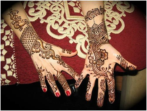 traditional pakistani mehndi designs for arms