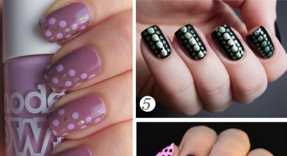 latest polka dot nail design pictures